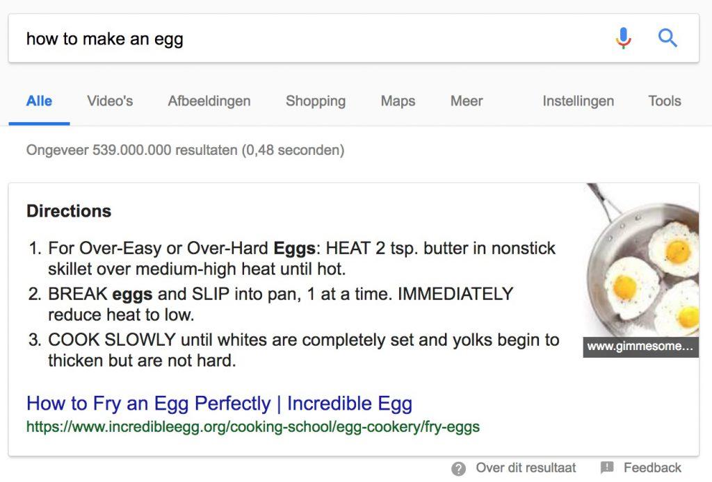 Google - How to make an egg